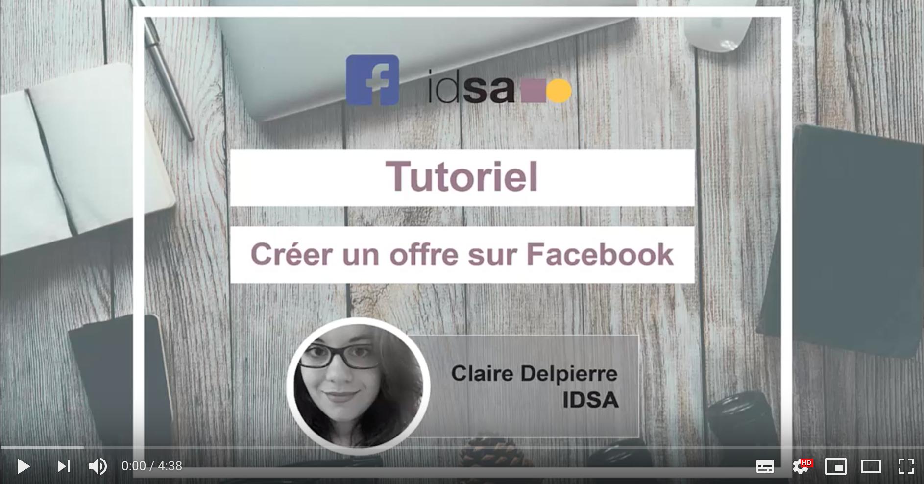 video tuto pour créer offre facebook