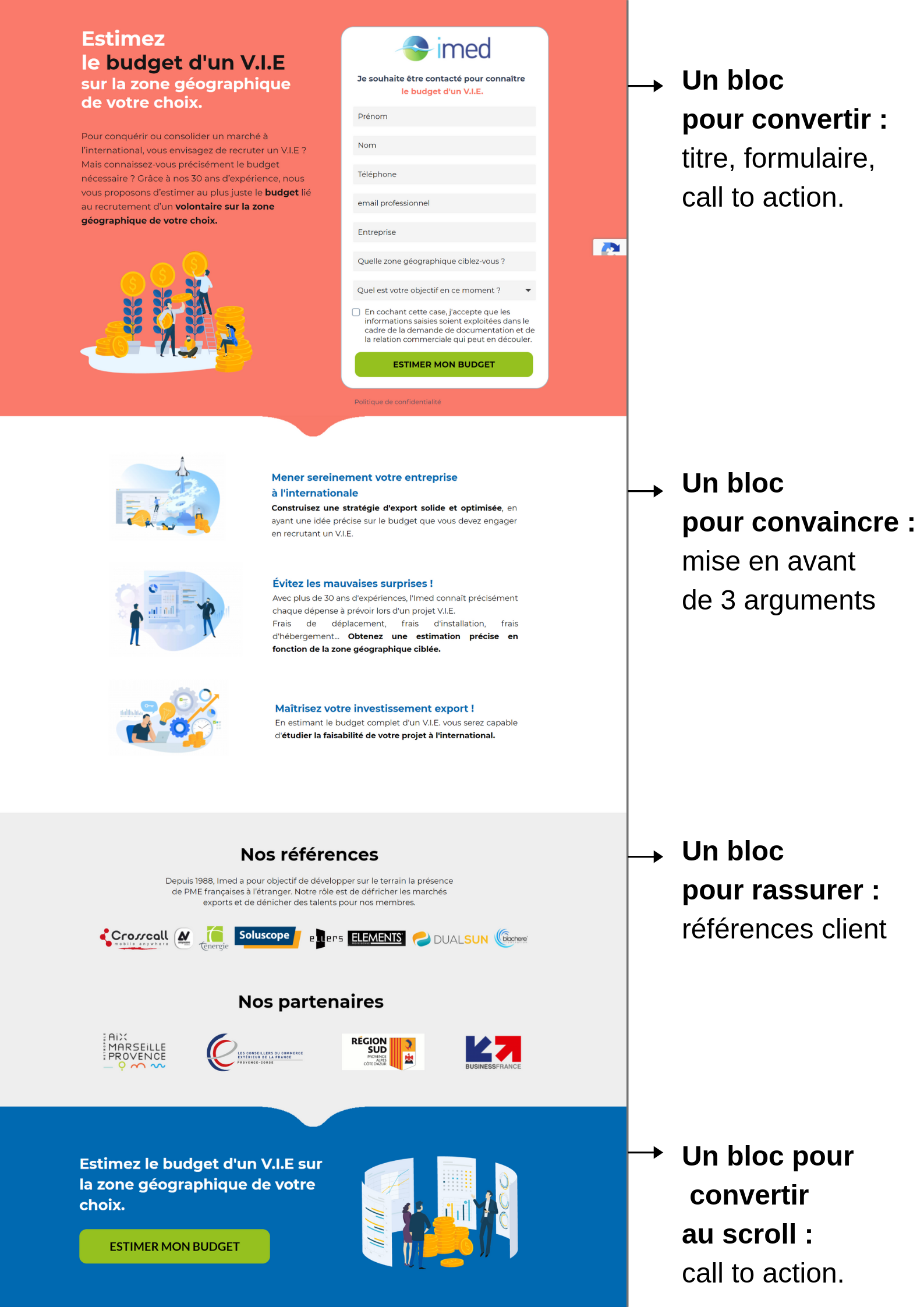 Landing page Imed