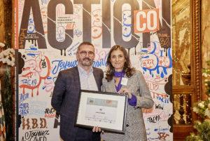 Yannick Descours Adrea Mutuelle Aesio et Sophie ATTIA IDSA - trophées d'argent action co catégorie social selling 2019