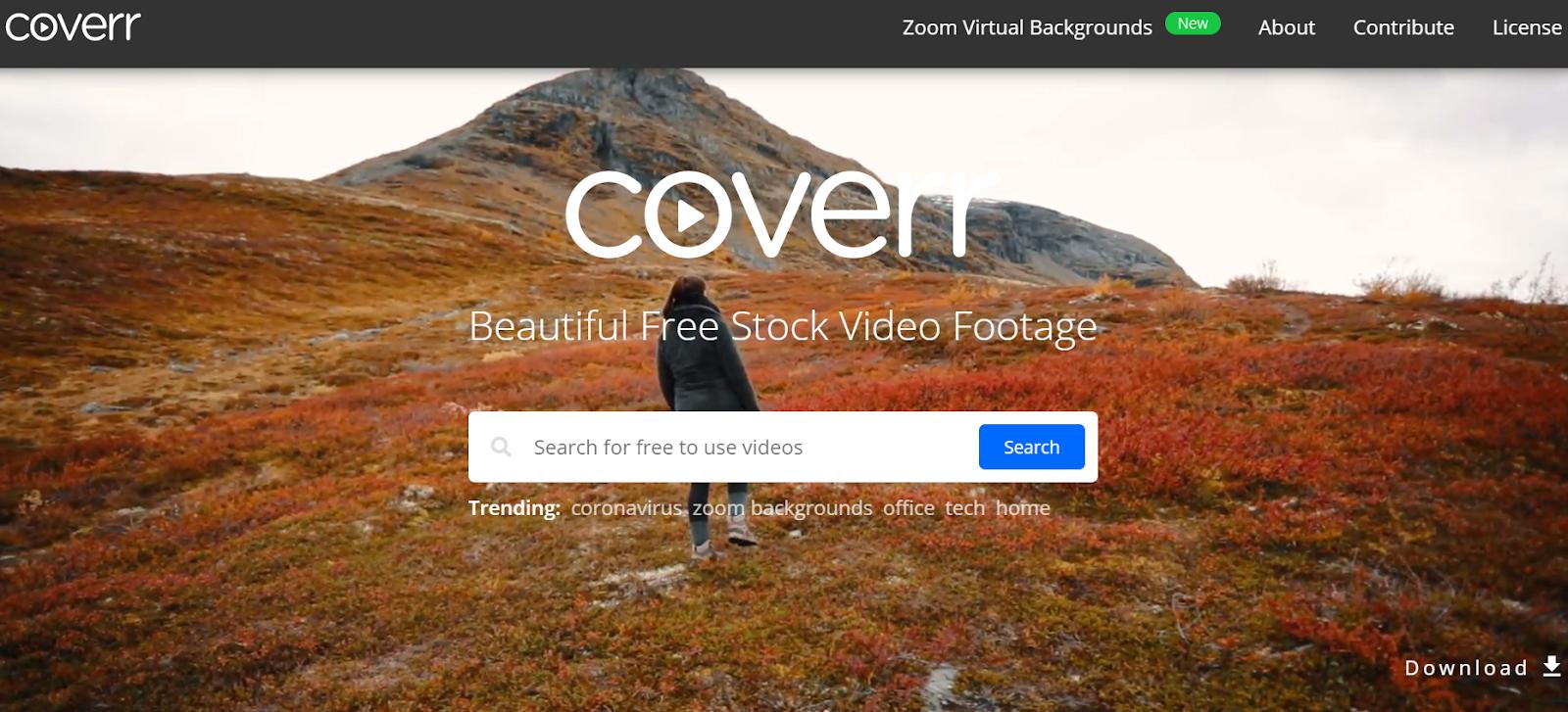 coverr - banque de vidéos qualitatives
