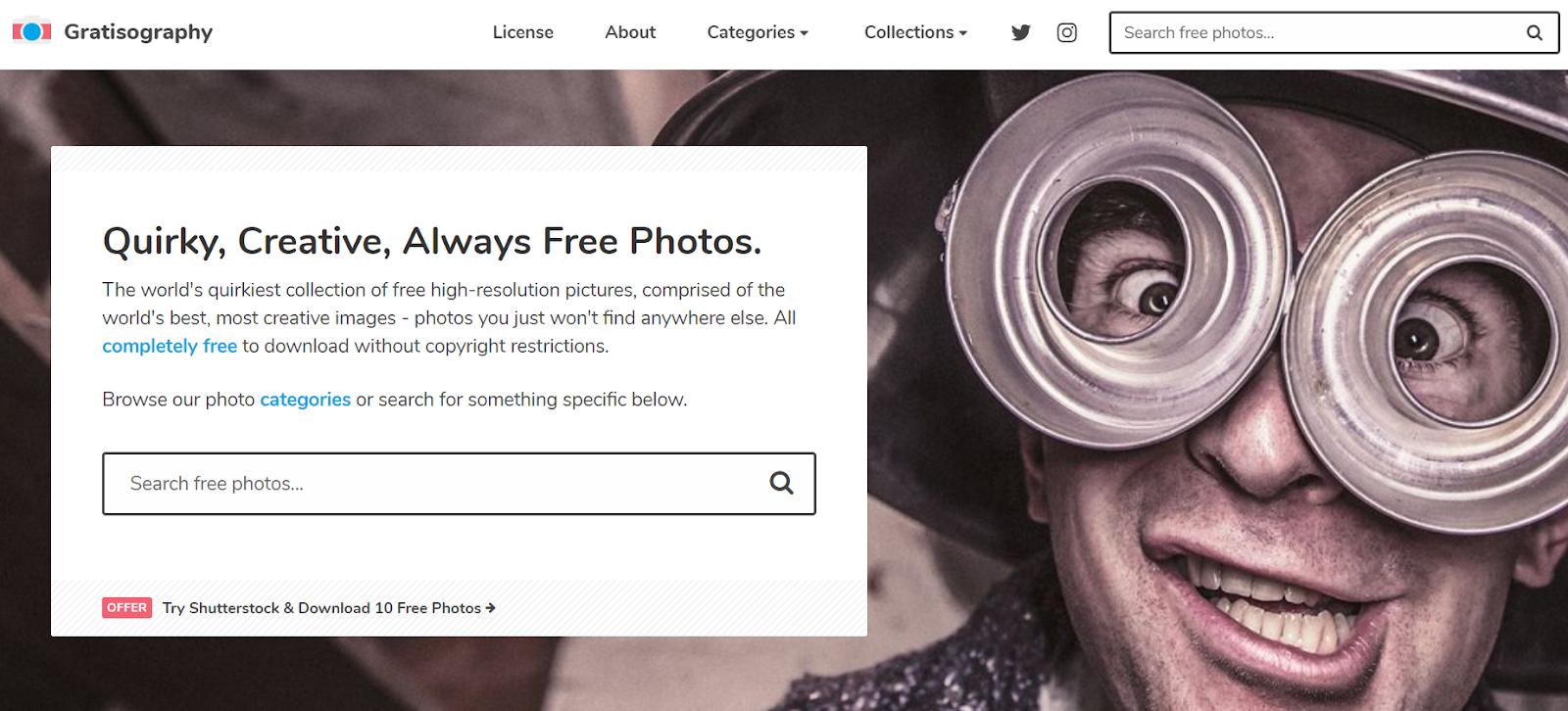gratisography - banque d'images loufoques