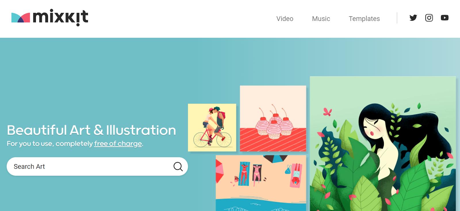 mixkit - banques d'illustrations gratuites