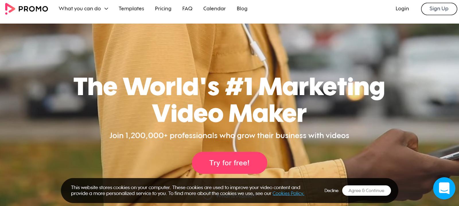 promo - plateforme de création vidéo