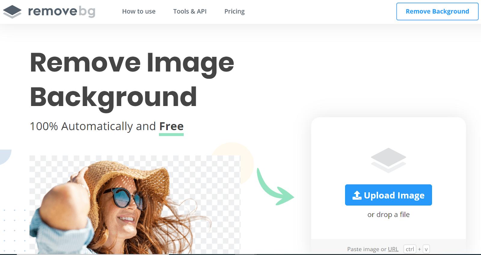 removebg - outil pour enlever le fond d'une image