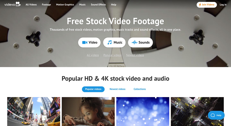 videvo - banque de vidéos large choix
